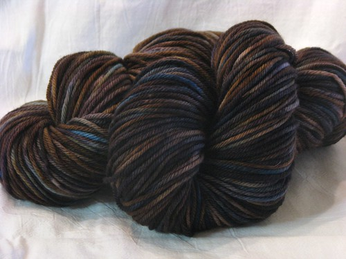 Brown and Black Worsted