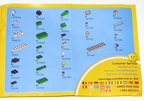 LEGO 2010 Creator 5865 Mini Dumper - Instructions - Parts List