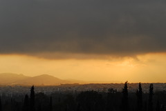 Everything Looks Good From Far Away (jay salamandras) Tags: sunset view cloudy dusk stadium athens greece olympic oaka kifissia
