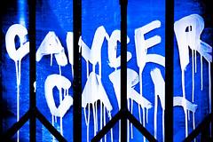 Cancer Carl (Thomas Hawk) Tags: california blue usa america graffiti oakland unitedstates unitedstatesofamerica eastbay cancercarl
