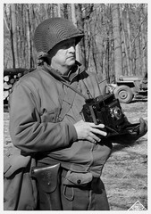 In the Field (photo_secessionist) Tags: portrait army us photographer ww2 reenactor speedgraphic fakevintage explored pocketsstuffedwithsheetfilmholders thisiswhatilooklikewhenimshootingthosevintageimages