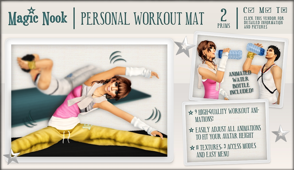 [MAGIC NOOK] Personal Workout Mat