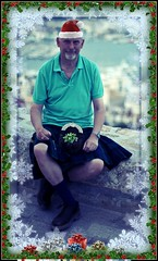 Merry Christmas (FotoFling Scotland) Tags: portrait holiday man male men fashion pose freedom evening scotland spain kilt photographer scottish september ibiza scot frame eivissa plaid oldtown blackwatch tartan commando kilted sporran battlements scotsman kiltie regimental freeballing kiltlad kiltedscotsman kiltedman richardfindlay tartankilt truescot andaralogringo andarstrike