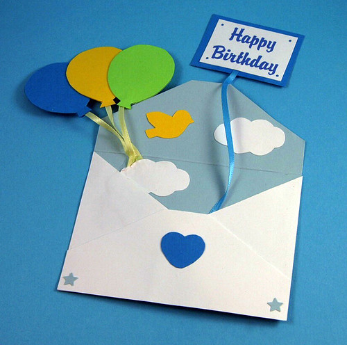 This unique, handmade birthday card is more of an envelope than a card.