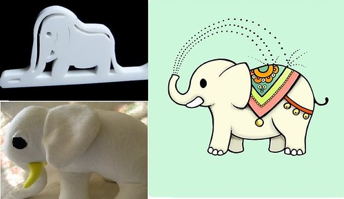 White Elephants @ etsy