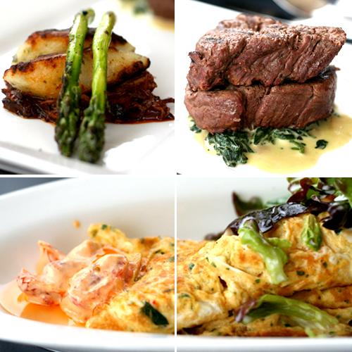 beef tenderlions & crab omelette