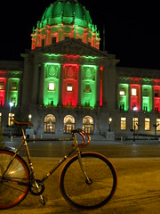 Holiday lighting (J.B. Davis) Tags: sanfrancisco lighting city holiday bike hall holidays track masi ltd speciale