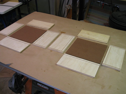 boards laid out for drawers glue-up