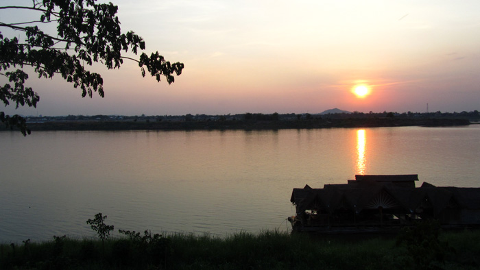 Sunrise on the Mekong River at Savannakhet, Laos