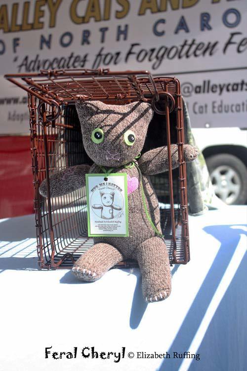 Feral Cheryl, sock cat by Elizabeth Ruffing at Peak Fest 2011