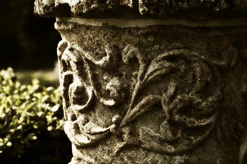 Stone Pot Detail - Copyright R.Weal 2011