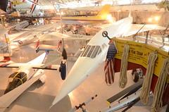 Steven F. Udvar-Hazy Center: Air France Concorde, with Bell XV-15 TRRA Tilt Rotor test plane in foreground