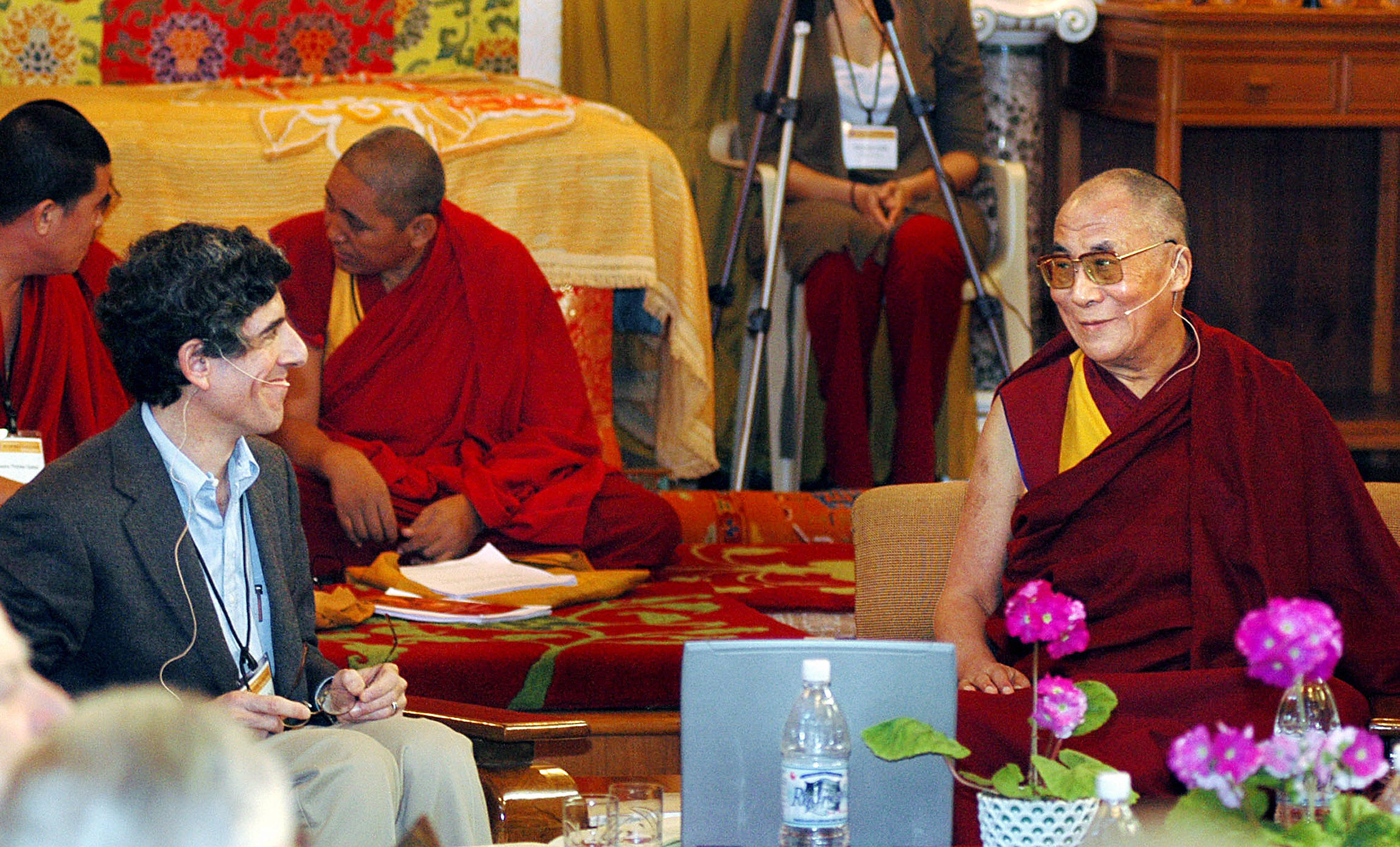 Dr. Davidson and His Holiness the Dalai Lama