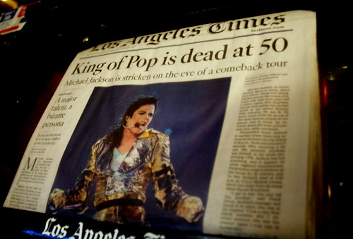 King Of Pop is dead at 50 - Michael Jackson
