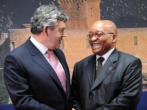 Gordon Brown and Jacob Zuma