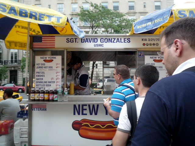 New York hot dog stand