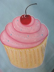 painted napkins cupcake (Pinks & Needles (used to be Gigi & Big Red)) Tags: christmas pink red holiday cute art glitter fruit painting cherry dessert happy stem cherries aqua acrylic sweet linen napkin painted sparkle cupcake sprinkles gift darling frosting batter liner buttercream frostedwindow gigiminor