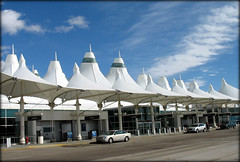 Denver International Airport (DIA), Colorado, USA (Batikart ... handicapped ... sorry for no comments) Tags: road street travel blue roof light vacation sky people usa cloud sun white holiday building window glass car architecture america canon geotagged interestingness spring airport colorado holidays leute unitedstates urlaub himmel wolke f100 bluesky dia denverinternationalairport denver tent explore fabric aurora views co architektur rockymountains blau flughafen amerika 2009 gebude blauerhimmel zelt vacanze frhling canonpowershot a610 tensile mensch frhjahr 200000 canonpowershota610 zeltdach milehighcity 100faves i500 viewonblack frhwofavs batikart tensionfabricroof saariysqualitypictures denverflughafen curtisfentress jamesbradburn stadtgetty2010