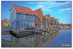 Reitdiephaven,Groningen stad, the Netherlands, Europe (Aheroy(2Busy)) Tags: city holland art water netherlands dutch architecture fun town europe colours different harbour arts nederland surreal hallucination groningen stad beautifull singleraw aheroy aheroyal