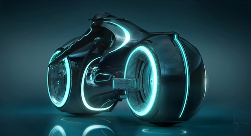 Tron Legacy moto light