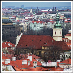 Rita Crane Photography: Prague  / Rooftops / cityscape / church / baroque / Rooftops in the Rain, Prague (Rita Crane Photography) Tags: urban church rain architecture rooftops prague stock czechrepublic historiccity urbanlandscape stockphotography centraleurope malastrana malstrana churchofourladyvictorious royalroute wwwritacranestudiocom rooftopsintherain atthreefiddles firstbaroquechurchofprague