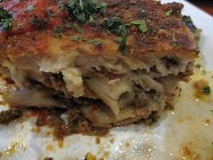 mykonos taverna - pastitsio disected