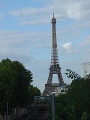 Eiffel tower view from Bir-Hakeim station, Paris, France