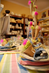 Summer table, for Busatti Bologna (maria grazia preda) Tags: italy decoration lifestyle icecream gelato bologna tisch interiordesign tablesetting decorazione decoracin centerpieces vetrine visualmerchandising tischdeko tischdekoration apparecchiare apparecchiatura busatti decorazionetavola tabledecorating mariagraziapreda decorerlatable