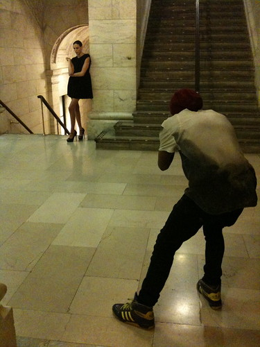 Fashion shoot at NYPL