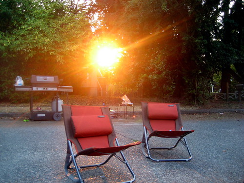 sunset on bbq