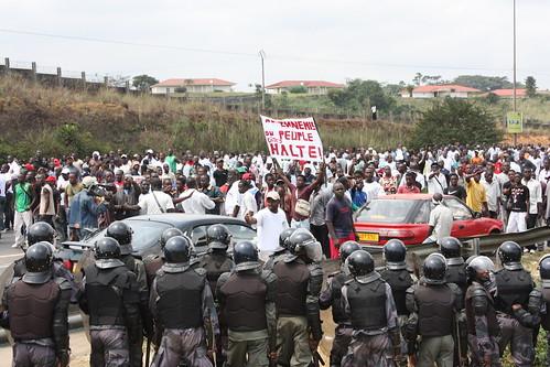 Manifestation de vendredi 7 août à Libreville, Gabon
