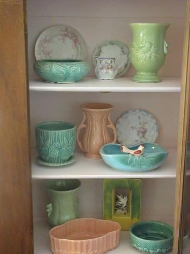 Green Sylvac china collection, via Flickr: harperscout52