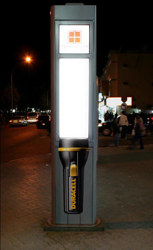 Duracell Torch Street Light in Dubai