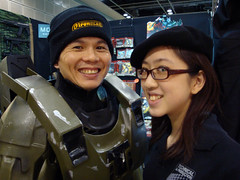 Chief unmasked (lysistarielle) Tags: toys singapore comic cosplay chief halo games master con spartan