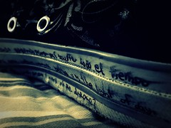 Words (accio.moony) Tags: lyrics shoes perspective converse picnik