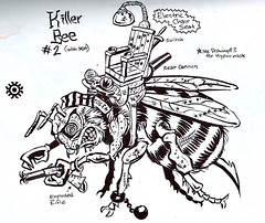 """Turtle Soup – Designs From The Classic TMNT Years""  the TMNT work of David Arshawsky :: Killer Bee (( 1989 ))"