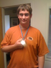 Aaron S. Special Olympics gold medal