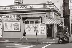 Rose Corner Cafe (IrvineShort) Tags: capetown yashica kodak400cn bokaap electro35 rosestreet mycapetown