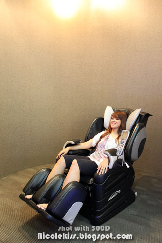 me sitting in 27k massage chair