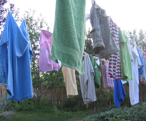 End of summer laundry line