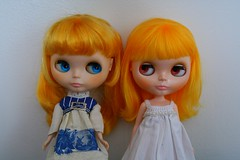 aimee (i wish i was the royal trux)'s custom girl and my marigold (cybermelli) Tags: park white boston doll long blythe gown prima dolly limited edition marigold meet rbl