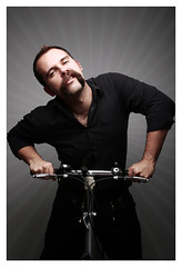 Ding ding! (Mr. Moog) Tags: bear hairy bike bicycle hair beard rob moustache handlebar snarl