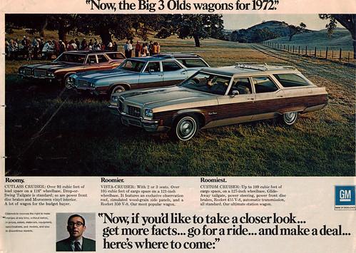 1972 Oldsmobile Cutlass Cruiser, Vista-Cruiser and Custom Cruiser Station Wagons