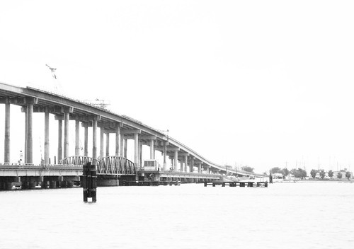 Swing Bridge & Replacement over Sabine River, Port Arthur, Texas 0912091504BW