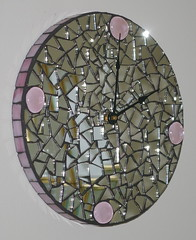 Mirror Clock (Red Crow Arts - Judy) Tags: clock mirror etsy mosai mosaicmirror redcrowarts