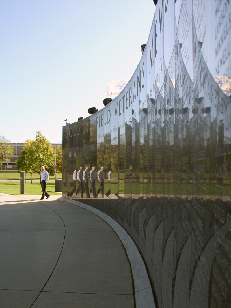 Soldiers Field Veterans wall
