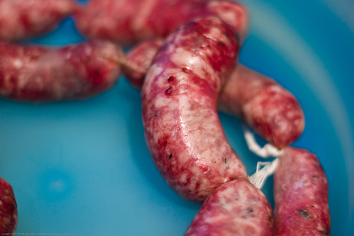 Colombian Sausages: aged but still raw