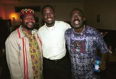 Mac Tontoh Project from Ghana at the Africa Centre London July 2001 102 with DJ Wala (photographer695) Tags: world africa from 2001 music london mac african centre band july jazz ghana warriors ashanti kete trumpeter amanas osibisa tontoh nanaeba exosibisa