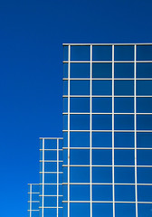 blue on blue (eYe_image) Tags: blue abstract architecture michigan southfield