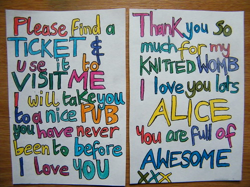 Colourful love notes